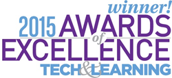 Winner! 2015 Awards of Excellence from Tech & Learning magazine
