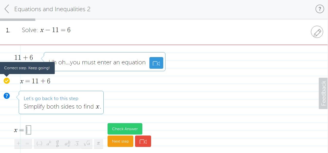 MyLab Math Workspace Feedback