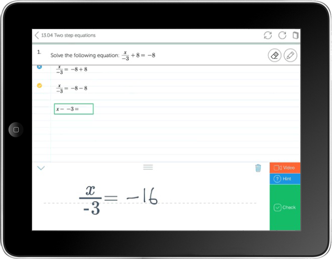 MyLab Math Workspace Handwriting Recognition