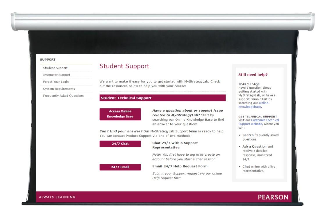Screenshot of 24/7 online portal